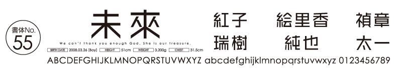 日本語書体ゴシック・ポップ系No55